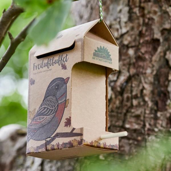 Freiluftbuffet Vögel