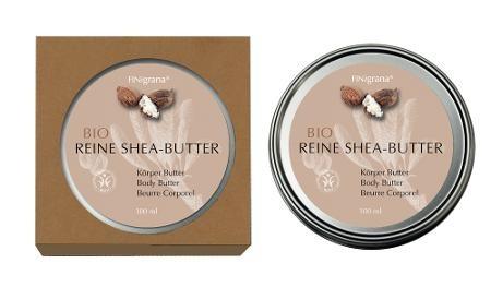Reine Bio Shea-Butter Körperbutter 100 ml in Weißblechdose