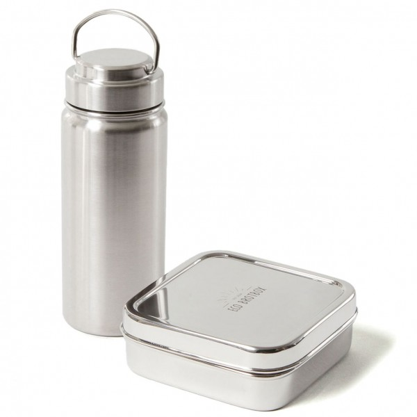 ECO Brotbox Starter-Set: Edelstahl-Trinkflasche + Brotbox Classic