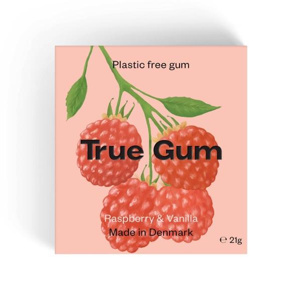 True Gum plastikfreier Kaugummi - Himbeere und Vanille