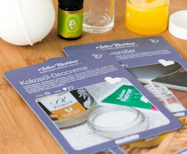 Rezeptkarten-Set: Pflegeprodukte