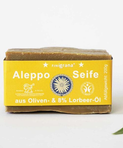 Aleppo Seife Olive mit 8% Lorbeeröl