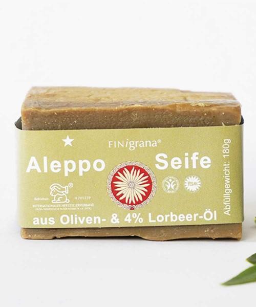 Aleppo Seife Olive mit 4% Lorbeeröl