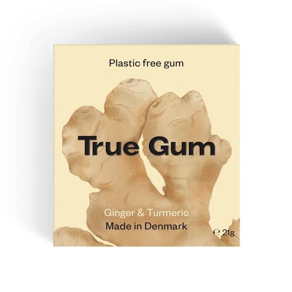 True Gum plastikfreier Kaugummi - Ingwer und Kurkuma