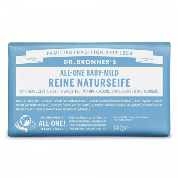 Dr. Bronner's reine Naturseife Baby-Mild (ohne Duft)