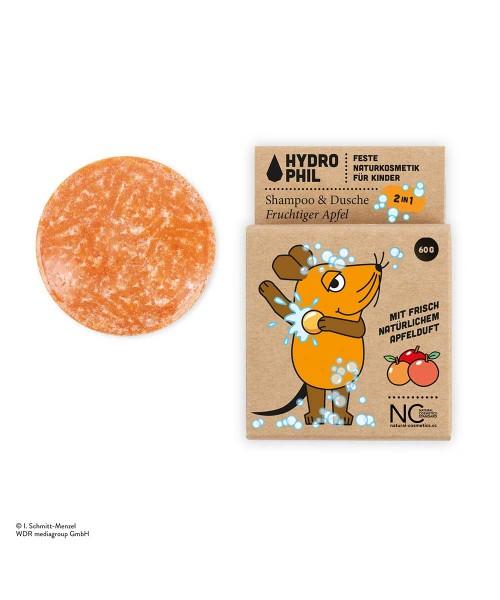 HYDROPHIL Festes 2in1 Shampoo & Dusche für Kinder mit der Maus - fruchtiger Apfel