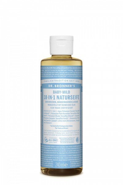 Dr. Bronner's 18-in-1 Naturseife Baby-Mild (ohne Duft)