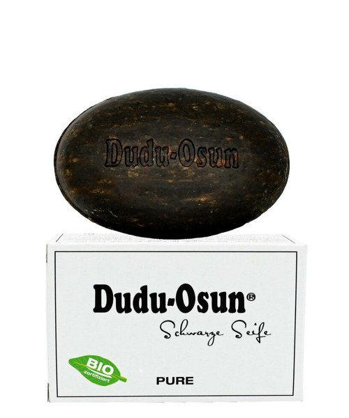 Dudu-Osun© Pure - Schwarze Seife aus Afrika, parfümfrei - 150g