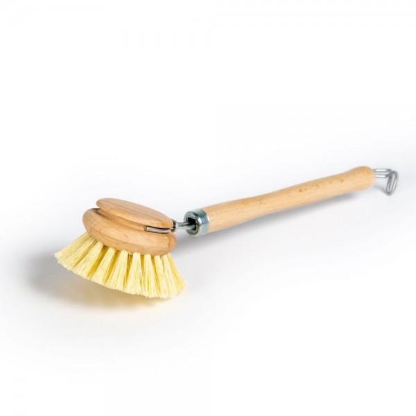 Spülbürste mit auswechselbarem Kopf, ø 5cm, Fibre (plastikfrei und vegan)