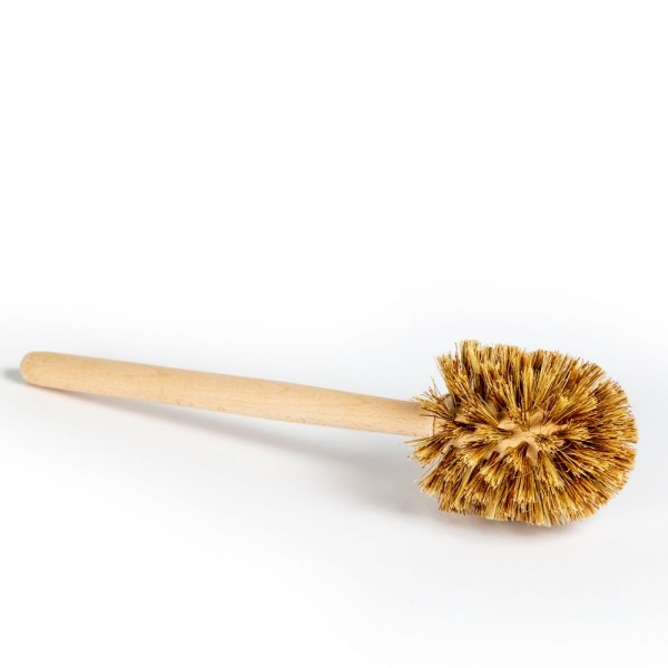 WC-Bürste Holz, massiver Griff, Fibre-Kokos-Mischung (plastikfrei und vegan)
