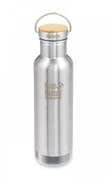 Klean Kanteen Trinkflasche Edelstahl mit Bambus-Deckel 532 ml