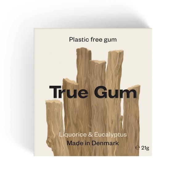 True Gum plastikfreier Kaugummi - Lakritz und Eukalyptus