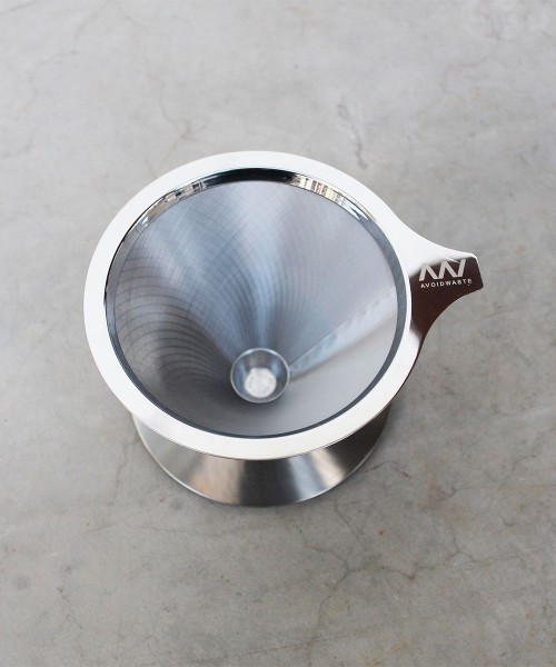 Zero-Waste-Kaffeefilter/Tassenfilter aus Edelstahl (plastikfrei, wiederverwendbar)