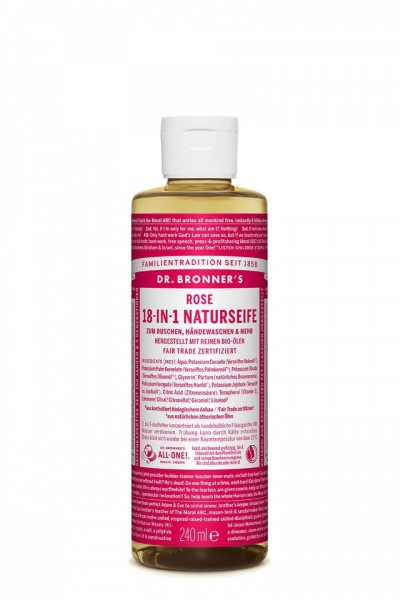 Dr. Bronner's 18-in-1 Naturseife Rose