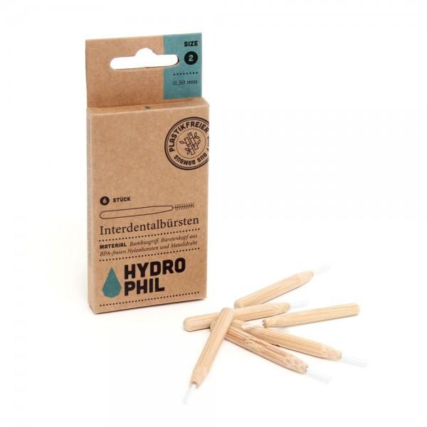 Interdentalbürsten mit Bambusgriff, 6 Stück (Borsten BPA-freies Nylon)