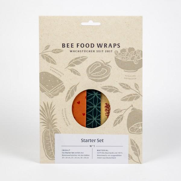 Bienenwachstücher Starter-Set - plastikfreie Frischhaltefolie
