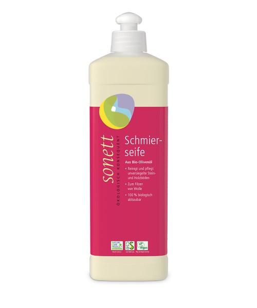 Sonett Schmierseife (aus Bio-Olivenöl) flüssig - 500 ml Spenderflasche