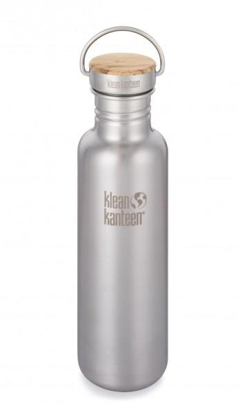 Klean Kanteen Trinkflasche Edelstahl mit Bambus-Deckel 800 ml