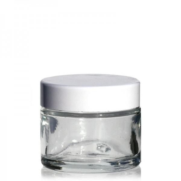 Glas-Tiegel (Cremedose/Salbentiegel zum Selbstbefüllen) 50 ml