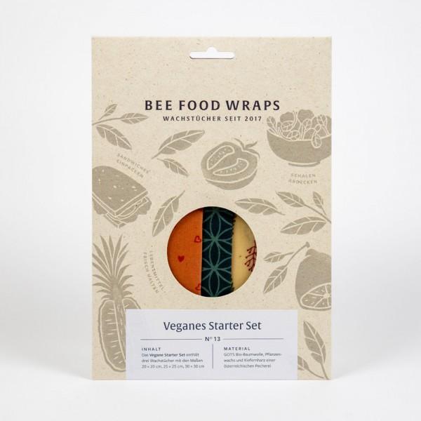 Vegane Wachstücher Starter-Set - plastikfreie Frischhaltefolie
