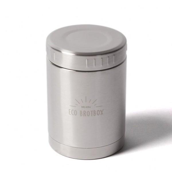 ECO Brotbox Bo+ Isolierbehälter aus Edelstahl, auslaufsicher (0,5 L)