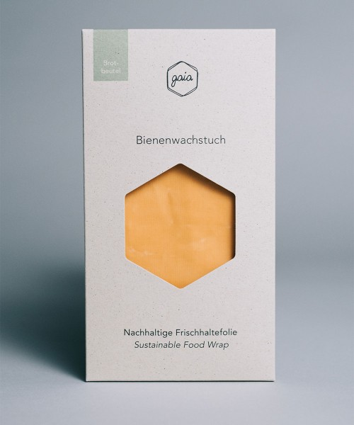 Bienenwachs Brotbeutel - apricot orange