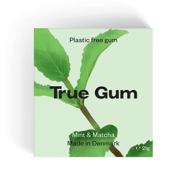 True Gum plastikfreier Kaugummi - Minze und Matcha