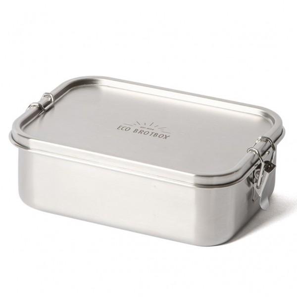 ECO Brotbox Bento Classic+ aus Edelstahl, auslaufsicher (mit festem Trennsteg)