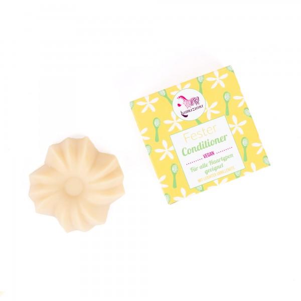 Fester Conditioner - Vanille-Pflegespülung für alle Haartypen, vegan und plastikfrei