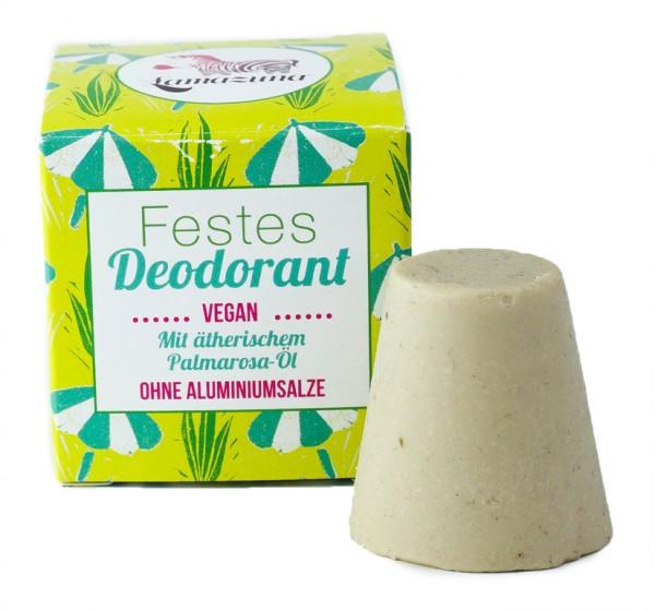 Festes Deodorant mit Palmarosa-Öl (ohne Aluminiumsalze)