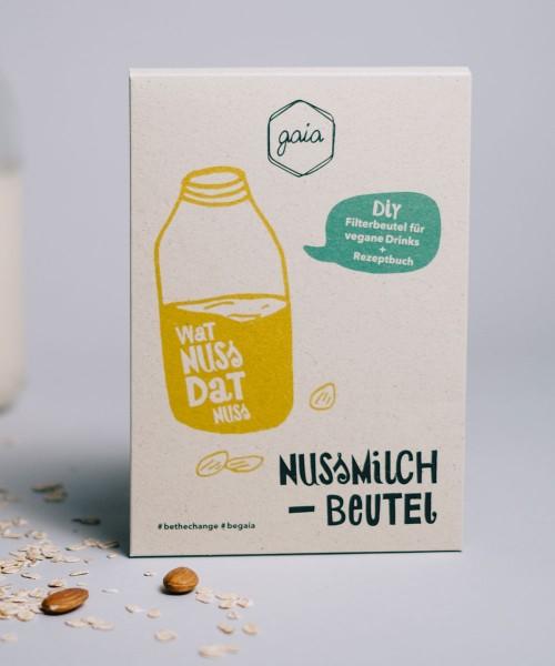 Nussmilchbeutel (Passiertuch), feinmaschiges Filtertuch aus Bio-Baumwolle