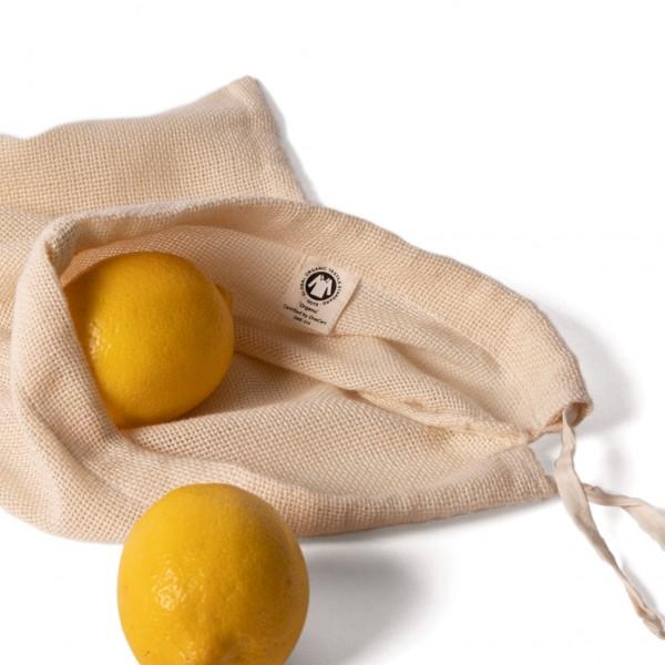 ECO Brotbox Obst- und Gemüsebeutel aus Biobaumwolle, 3er-Set